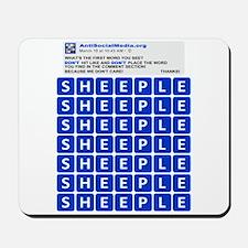 Anti Social Media Word Find Mousepad