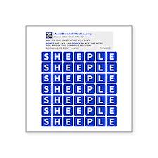 Anti Social Media Word Find Sticker