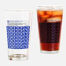 Anti Social Media Word Find Drinking Glass