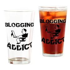 Blogging Addict Drinking Glass