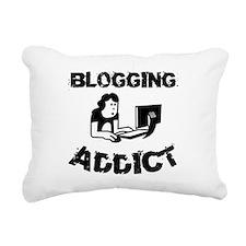 Blogging Addict Rectangular Canvas Pillow