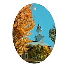 Weathersfield Center Church Oval Ornament