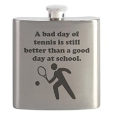 A Bad Day Of Tennis Flask