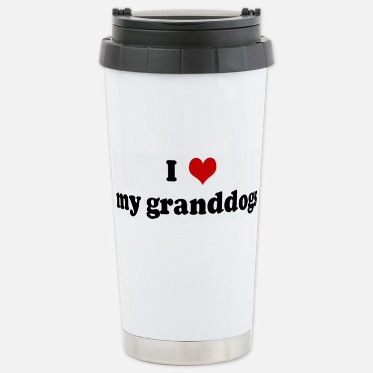 Cute I love my granddog Travel Mug