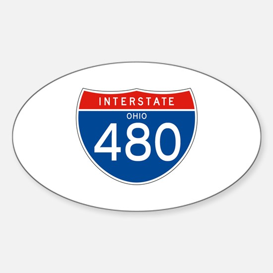 Interstate 480 - OH Oval Decal