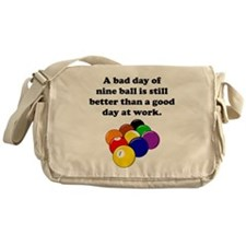 A Bad Day Of Nine Ball Messenger Bag