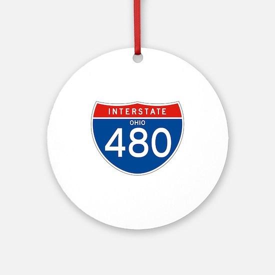 Interstate 480 - OH Ornament (Round)