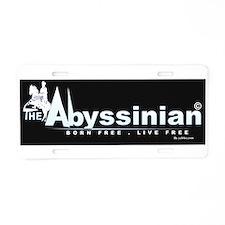 Cute Abyssinian Aluminum License Plate