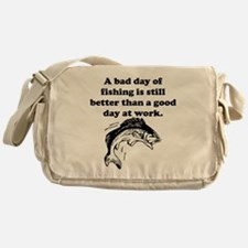 A Bad Day Of Fishing Messenger Bag