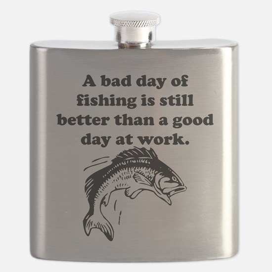 A Bad Day Of Fishing Flask