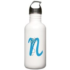 Letter N Monogram Water Bottle