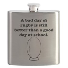 A Bad Day Of Rugby Flask