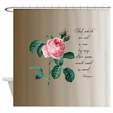 Rose Shakespeare Shower Curtain
