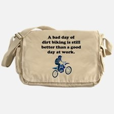 A Bad Day Of Dirt Biking Messenger Bag