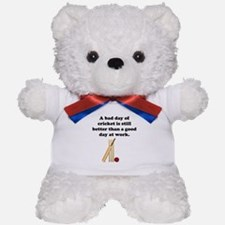 A Bad Day Of Cricket Teddy Bear
