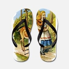 Alice and a Doe Flip Flops