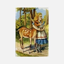 Alice and a Doe Rectangle Magnet