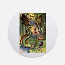 Beware the Jabberwocky Ornament (Round)
