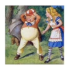 Alice and Tweedledum Tile Coaster