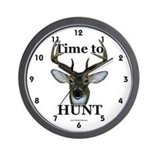 Funny Deer hunting Wall Clock