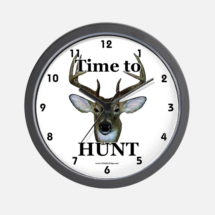 Cute Deer hunting Wall Clock