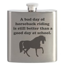 A Bad Day Of Horseback Riding Flask