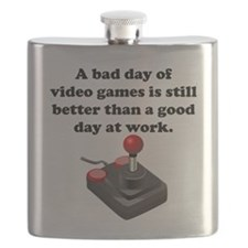 A Bad Day Of Video Games Flask