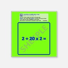 Anti Social Media Math Problem Sticker
