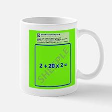 Anti Social Media Math Problem Mug