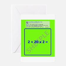 Anti Social Media Math Problem Greeting Card