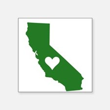 Green California Rectangle Sticker