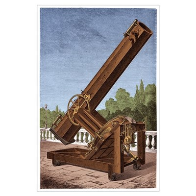 Great Silver-on-Glass Reflector Telescope Poster