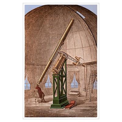Great Equatorial Telescope Paris 1860 Poster