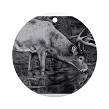 Deer Drawing 2013 Ornament (Round)
