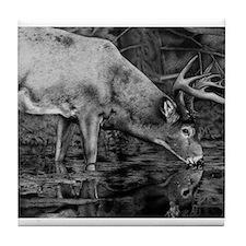 Deer Drawing 2013 Tile Coaster