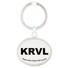 Cute Country and western Oval Keychain