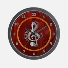 Clef Woodsteel Wall Clock
