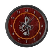 Clef Woodsteel Large Wall Clock