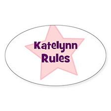 Katelynn Rules Oval Decal