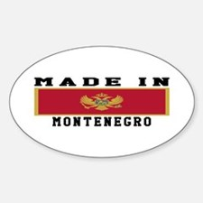 Montenegro Made In Sticker (Oval)