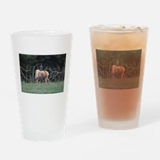 Mother Moose and Calf Drinking Glass