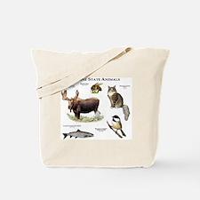 Maine State Animals Tote Bag