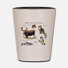 Maine State Animals Shot Glass