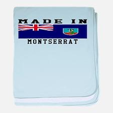 Montserrat Made In baby blanket