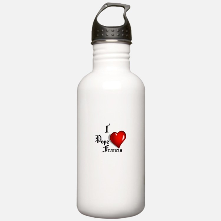 I Love Pope Francis Water Bottle