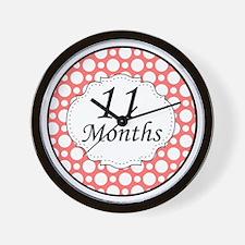 11 Months Polka Dot Milestone Wall Clock