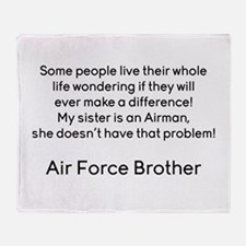 AF Brother No Prob Throw Blanket