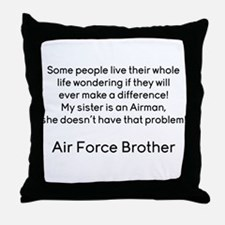 AF Brother No Prob Throw Pillow