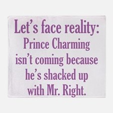 Prince Charming & Mr. Right Throw Blanket