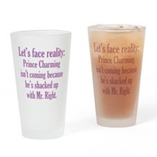 Prince Charming & Mr. Right Drinking Glass